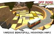 Off-Road Hill Driver Bus Craft - скриншот