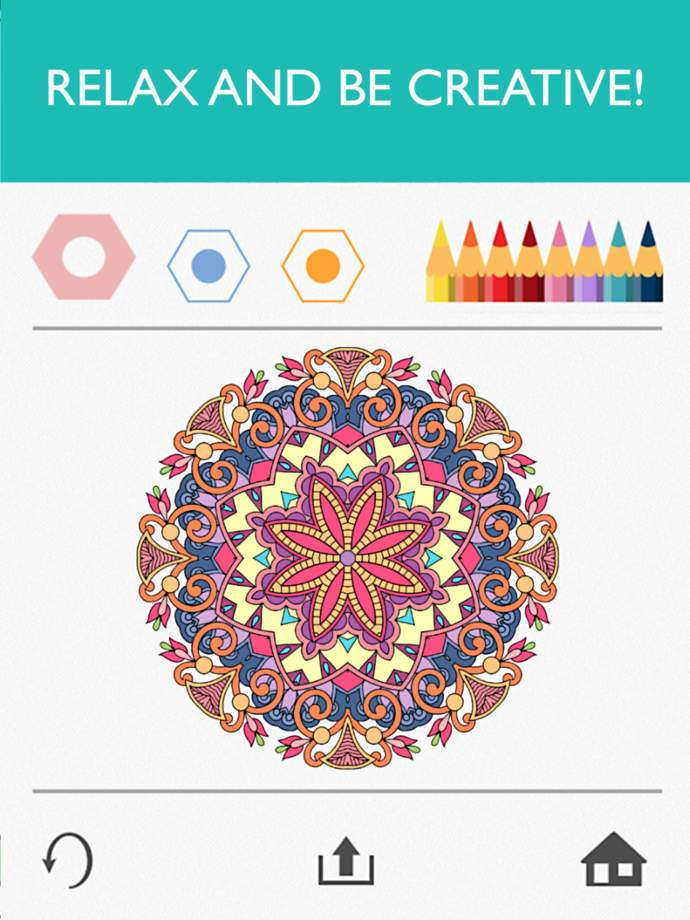 Colorfy — бесплатная раскраска для Андроид планшетов