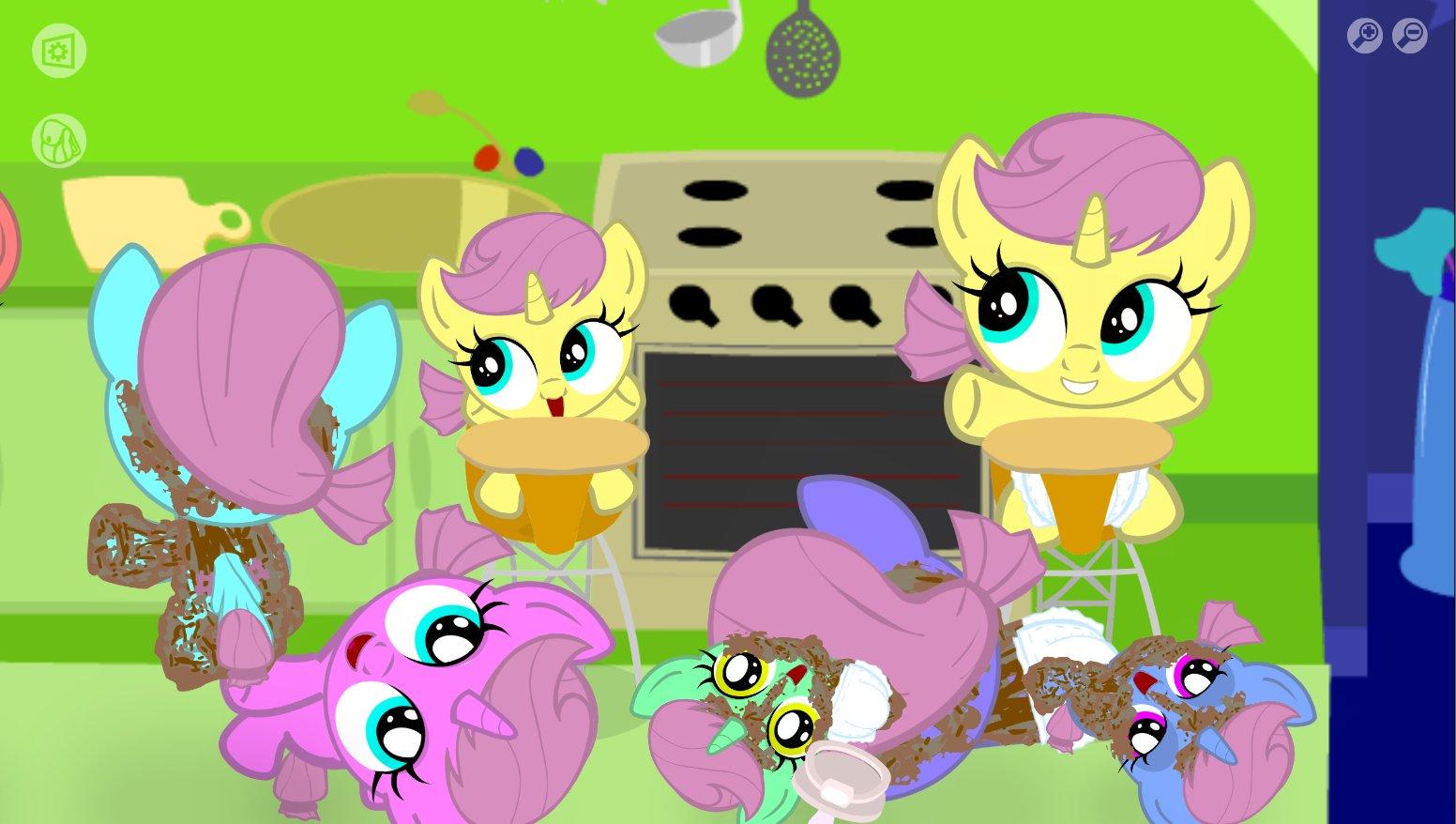 Игры пони создай свою открытку с пони